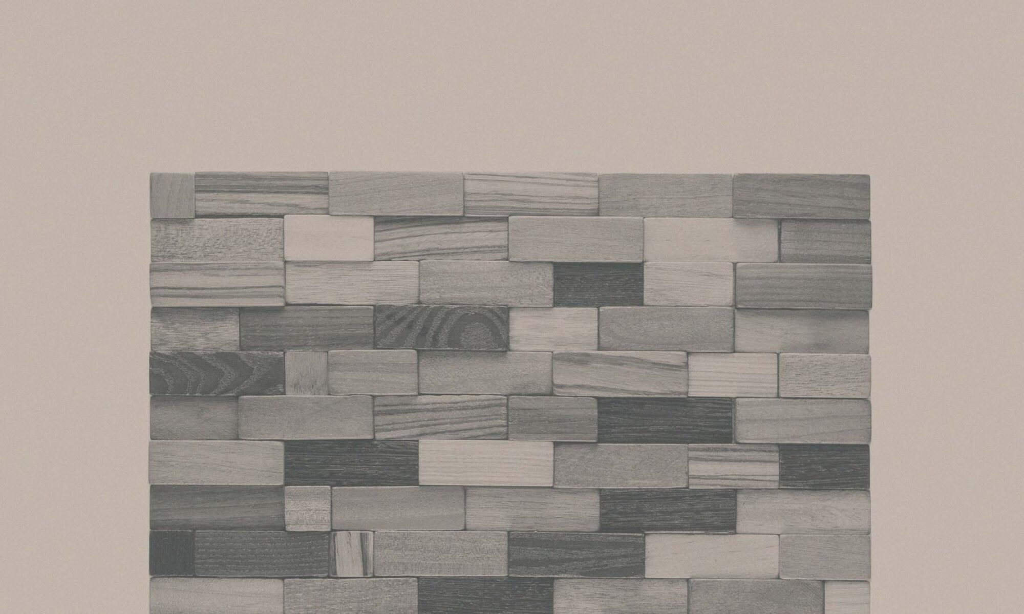 Мозаичная плитка из дерева